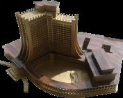 Макет на хотел Добруджа в Албена