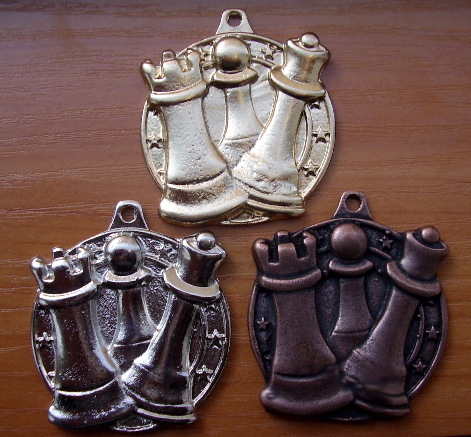 Комплект шахматни медали