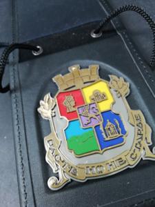Значка в калъф на герба на община София